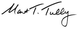 Mayor Martin Tully Signature