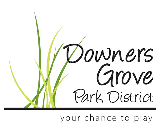 Green grass with the Downers Grove Park District text.